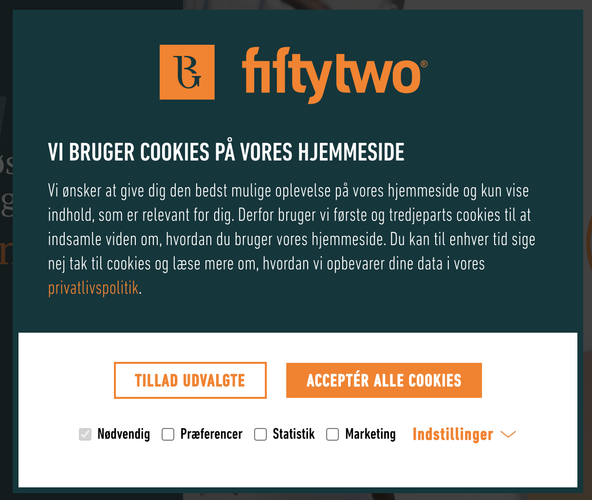 Cookiebanner Fiftytwo