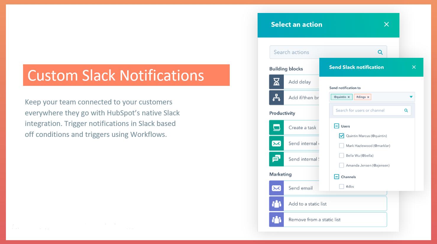 Custom Slack notifications
