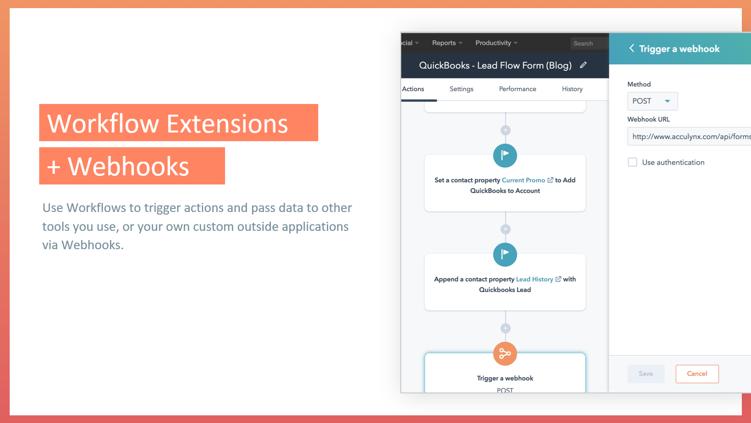 Workflow extensions
