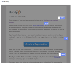 Email click map
