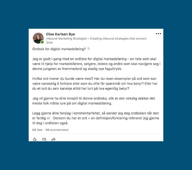 LinkedIn-engasjement