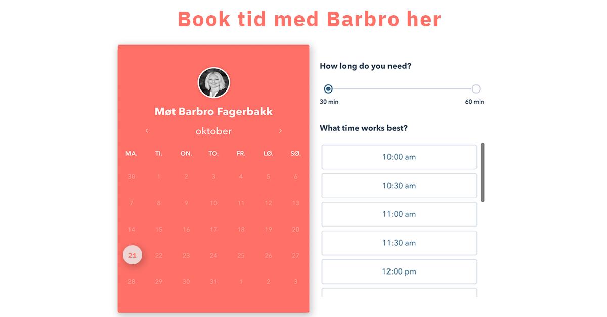 book møte med Barbro
