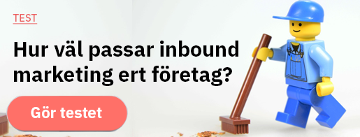 HVOR GODT PASSER INBOUND MARKETING TIL DIN BEDRIFT? KLIKK HER FOR Å TA TESTEN