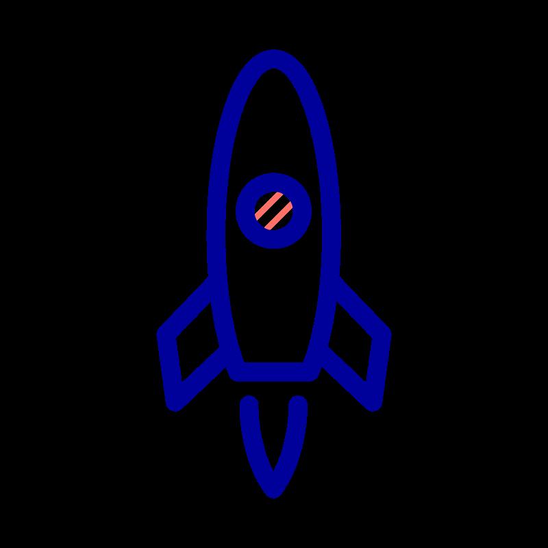 Raket der symboliserer enterprise